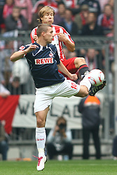 18.09.2010, Allianz Arena, Muenchen, GER, 1.FBL, FC Bayern Muenchen vs 1.FC Koeln, im Bild Lukas Podolski (Koeln #10) im kampf mit Holger Badstuber (Bayern #28)  , EXPA Pictures © 2010, PhotoCredit: EXPA/ nph/  Straubmeier+++++ ATTENTION - OUT OF GER +++++ / SPORTIDA PHOTO AGENCY
