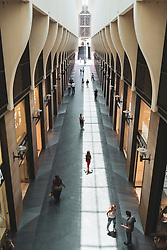 Interior of new modern Beirut Souks retail development in Downtown Beirut, Lebanon
