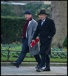 Minister for Universities and Science David Willetts and Business Secretary Vince Cable (R) arrive to attend the Government's weekly Cabinet meeting at Number 10 Downing Street No 10 Downing Street, London, UK, December 18, 2012. Photo By Andrew Parsons / i-Images.