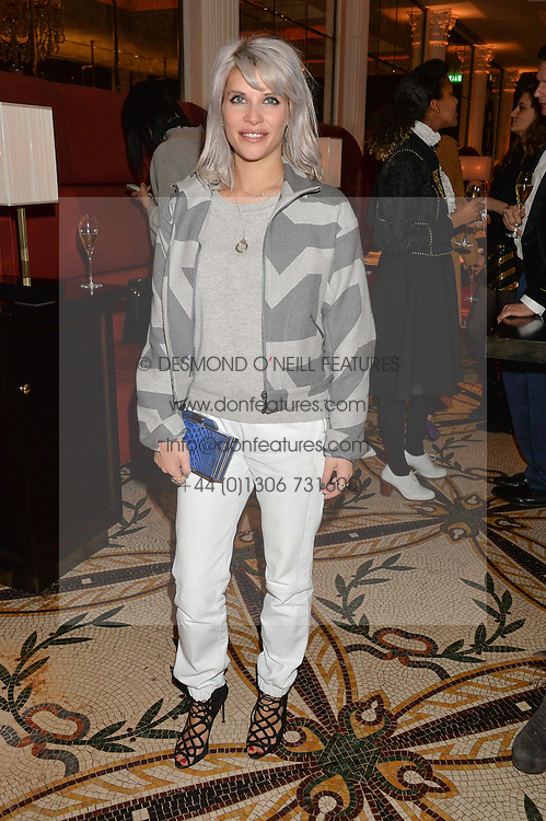 PIPS TAYLOR at a dinner hosted by Amy Molyneaux and Percy Parker of fashion label PPQ to celebrate the PPQ AW 2015 collection 'Persephone' held at Braserie Chavot, 41 Conduit Street, London on 22nd February 2015.