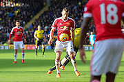 Morgan Schneiderlin of Manchester United during the Barclays Premier League match between Watford and Manchester United at Vicarage Road, Watford, England on 21 November 2015. Photo by Phil Duncan.
