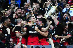 Richard Wigglesworth of Saracens celebrates after the match - Mandatory byline: Patrick Khachfe/JMP - 07966 386802 - 14/05/2016 - RUGBY UNION - Grand Stade de Lyon - Lyon, France - Saracens v Racing 92 - European Rugby Champions Cup Final.
