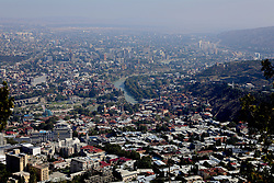 TBILSI, GEORGIA - Friday, October 6, 2017: A view of Tbilisi from Mtatsminda Park across Tbilisi ahead of the 2018 FIFA World Cup Qualifying Group D match between Georgia and Wales. (Pic by David Rawcliffe/Propaganda)
