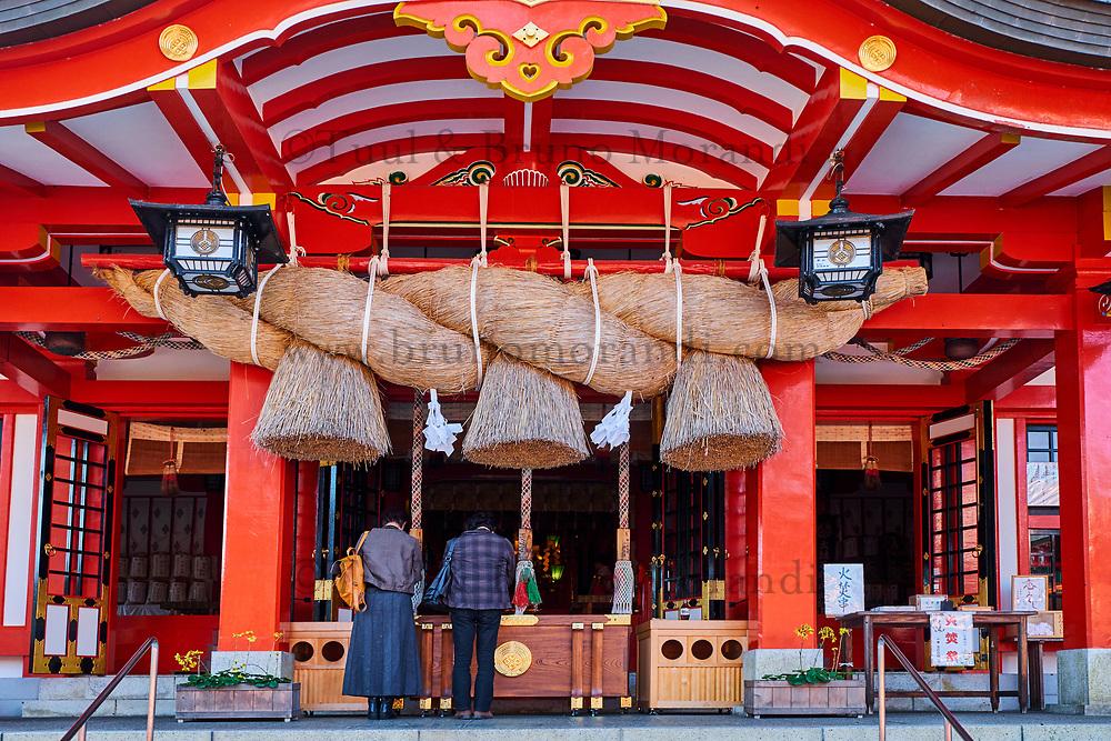 Japon, île de Honshu, région de Chugoku, Tsuwano, temple Taikodani Inari Jinja, sanctuaire shintoiste // Japan, Honshu island, Chukogu region, Tsuwano, Taikodani Inari Jinja Temple, Shinto sanctuary