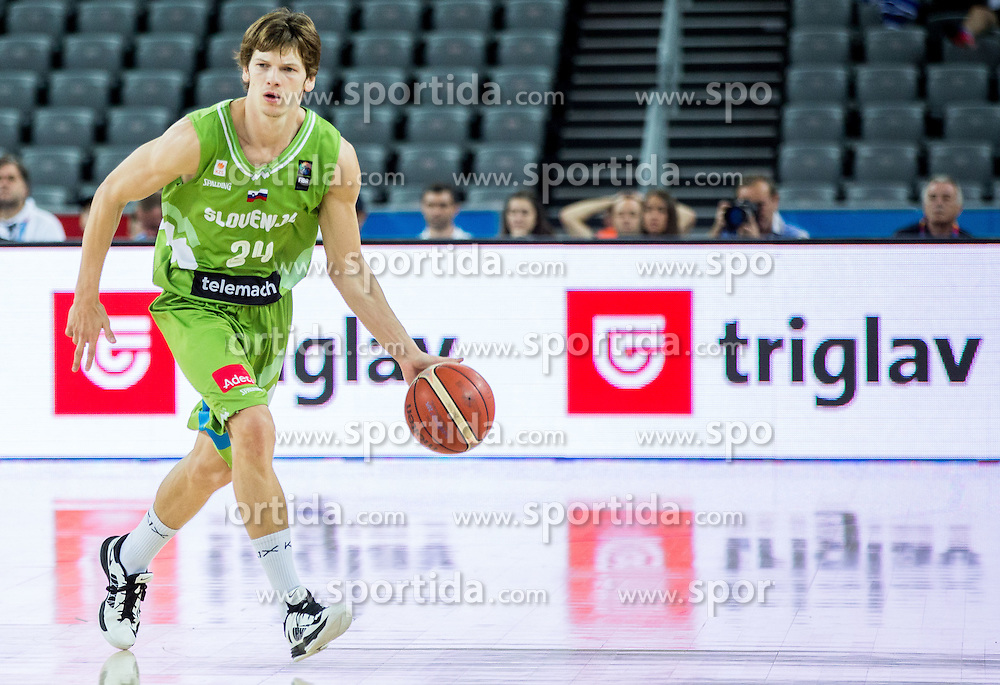 Jaka Klobucar of Slovenia during basketball match between Slovenia vs Greece at Day 5 in Group C of FIBA Europe Eurobasket 2015, on September 9, 2015, in Arena Zagreb, Croatia. Photo by Vid Ponikvar / Sportida