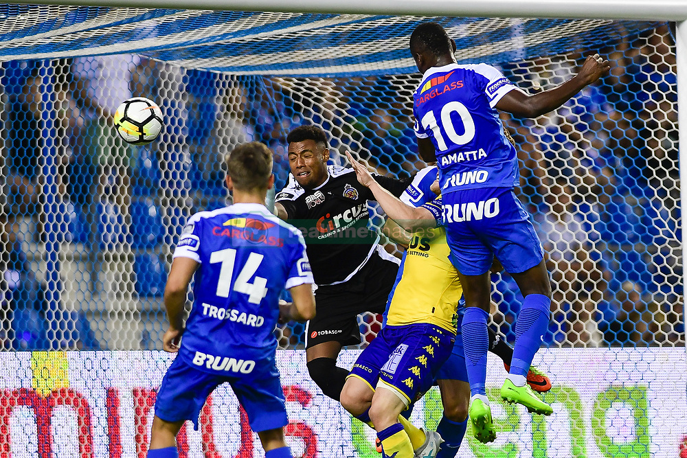 July 29, 2017 - Genk, BELGIUM - Genk's Ally Mbwana Samatta scores a goal during the Jupiler Pro League match between RC Genk and Waasland-Beveren, in Genk, Saturday 29 July 2017, on the first day of the Jupiler Pro League, the Belgian soccer championship season 2017-2018. BELGA PHOTO LAURIE DIEFFEMBACQ (Credit Image: © Laurie Dieffembacq/Belga via ZUMA Press)