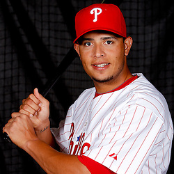 February 22, 2011; Clearwater, FL, USA; Philadelphia Phillies shortstop Carlos Rivero (73) poses during photo day at Bright House Networks Field. Mandatory Credit: Derick E. Hingle