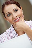 Business woman smiling, portrait