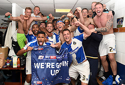 Bristol rovers players celebrate promotion from Sky Bet League 2 up to Sky Bet League 1  - Mandatory by-line: Joe Meredith/JMP - 07/05/2016 - FOOTBALL - Memorial Stadium - Bristol, England - Bristol Rovers v Dagenham and Redbridge - Sky Bet League Two