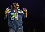 Snoop Dogg performs at WaMu theater on 4/20 in Seattle, Wa. Photo by John Lill
