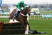 We Have A Dream and Daryl Jacob winner of The Doom Bar Anniversary 4 Y O Juvenile Hurdle Race at Aintree, Liverpool, United Kingdom on 12 April 2018. Picture by Craig Galloway.