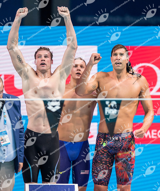 United States USA Gold Medal <br /> GREVERS Matt CORDES Kevin DRESSEL Caeleb Remel ADRIAN Nathan <br /> Men's 4x100m Medley Relay<br /> Swimming  <br /> 30/07/2017 <br /> XVII FINA World Championships Aquatics<br /> Duna Arena Budapest Hungary <br /> Photo Andrea Staccioli/Deepbluemedia/Insidefoto