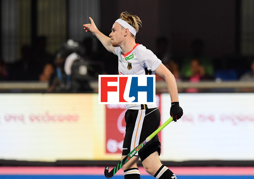 Odisha Men's Hockey World League Final Bhubaneswar 2017<br /> Match id:01<br /> Germany v England<br /> Foto: Christopher Ruhr scores   2-0 <br /> WORLDSPORTPICS COPYRIGHT FRANK UIJLENBROEK