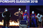 Marie Wattel, Charlotte Bonnet, Margaux Fabre and Assia Touati for France compete on Women's 4X200 m Relay during the Swimming European Championships Glasgow 2018, at Tollcross International Swimming Centre, in Glasgow, Great Britain, Day 6, on August 7, 2018 - Photo Stephane Kempinaire / KMSP / ProSportsImages / DPPI
