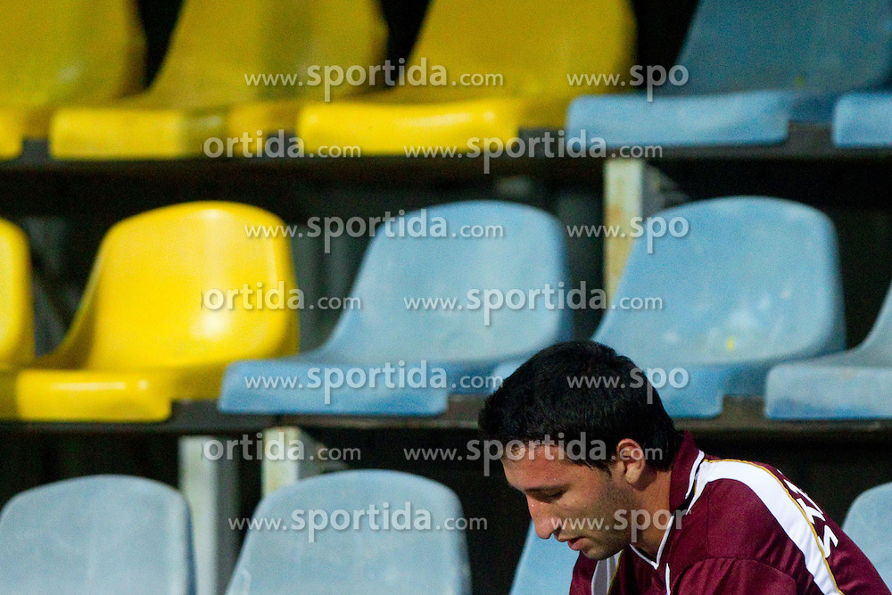 Bernard Stjepanovic of Triglav get red card during football match between NK Domzale and NK Triglav Kranj of 12th Round of PrvaLiga, on September 28, 2011, in Sports centre, Domzale, Slovenia. Domzale defeated Triglav 2-0. (Photo by Vid Ponikvar / Sportida)