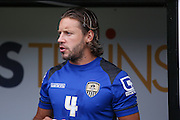 Notts County midfielder Alan Smith (4)  during the Pre-Season Friendly match between Notts County and Blackburn Rovers at Meadow Lane, Nottingham, England on 31 July 2016. Photo by Simon Davies.
