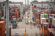 Refer rack maintenance workers and RTG operators at work at the Georgia Ports Authority Port of Savannah, Tuesday Aug,12, 2014, in Savannah, Ga.  (GPA Photo/Stephen B. Morton)