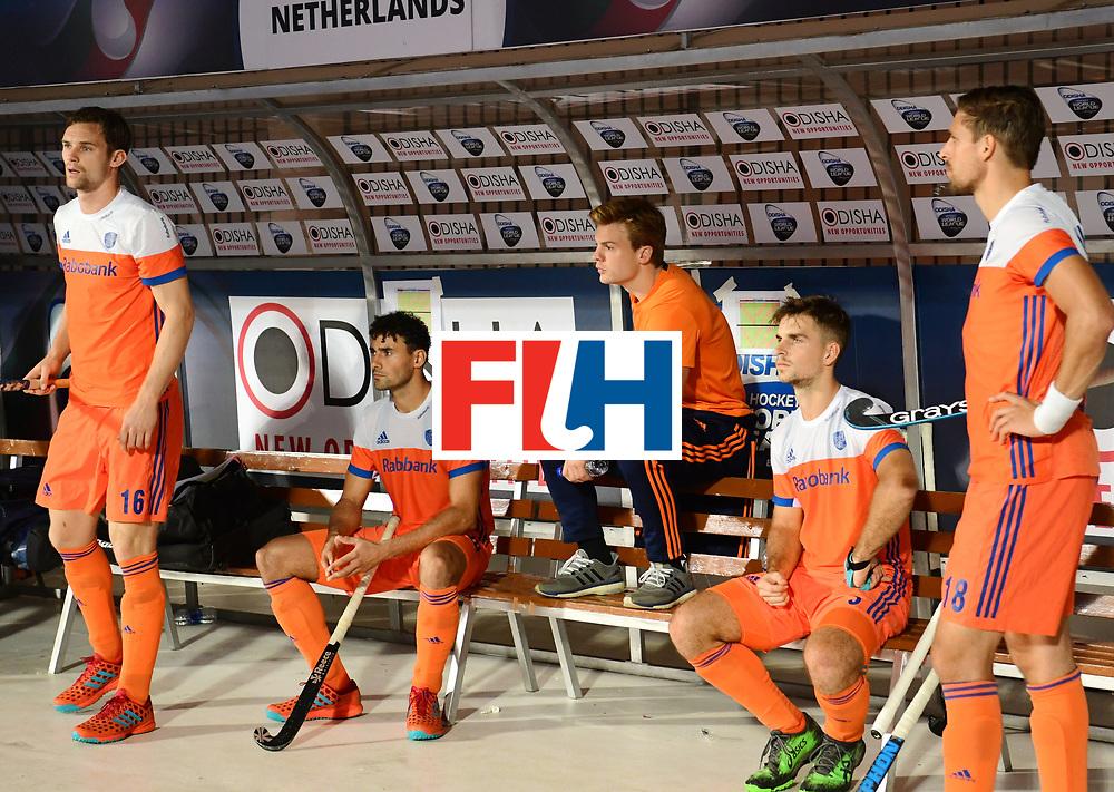 Odisha Men's Hockey World League Final Bhubaneswar 2017<br /> Match id:08<br /> Netherlands v Argentina<br /> Foto: Mink van der Weerden (Ned) has a injury<br /> WORLDSPORTPICS COPYRIGHT FRANK UIJLENBROEK