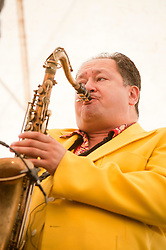 """BIG"" John Fordham Tenor & Baritone, Saxaphone, Clarinet and Irish Fiddle..9 September 2012.Image © Paul David Drabble"