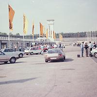 Pit Lane with Manufacturer Stands, Hockenheim test day, pre IAA Frankfurt Motor Show 1981