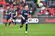 Ezgjan Alioski (10) of Leeds United on the attack during the EFL Sky Bet Championship match between Bristol City and Leeds United at Ashton Gate, Bristol, England on 9 March 2019.