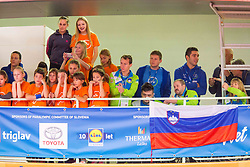 Slovenian Fans during day 3 of 15th EPINT tournament - European Table Tennis Championships for the Disabled 2017, at Arena Tri Lilije, Lasko, Slovenia, on September 30, 2017. Photo by Ziga Zupan / Sportida