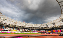 London, 2017-August-04. Forbidding skies ahead of the IAAF World Championships London 2017. Paul Davey.