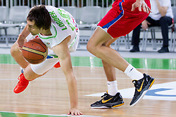 Domen Lorbek of Slovenia during basketball match between National teams of Slovenia and Serbia in day 3 of Adecco cup, on August 5, 2012 in Arena Stozice, Ljubljana, Slovenia. (Photo by Vid Ponikvar / Sportida.com)