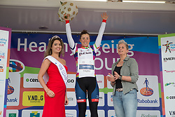 Lisa Klein (GER) of Cervélo-Bigla Cycling Team retains the white jersey as the leader of the Young Rider Classification after Stage 4 of the Healthy Ageing Tour - a 126.6 km road race, starting and finishing in Finsterwolde on April 8, 2017, in Groeningen, Netherlands.