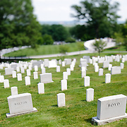 Arlington National Cemetery. NB: This is using tilt-shift photographic technique and has a very narrow field of focus.