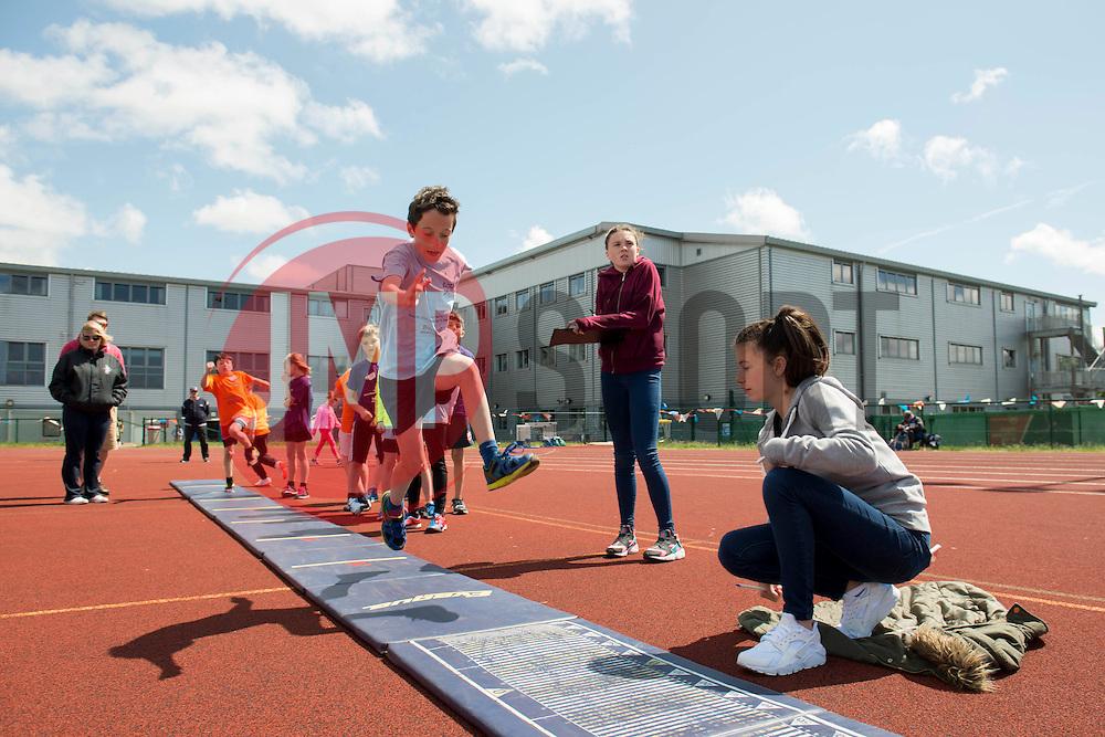 Children participate in the long jump during the Bristol Sport Festival - Photo mandatory by-line: Dougie Allward/JMP - Mobile: 07966 386802 - 06/06/2015 - SPORT - Multi-Sport - Bristol - SGS Wise Campus - Bristol Sport Festival Of Youth Sport - Festival Of Youth