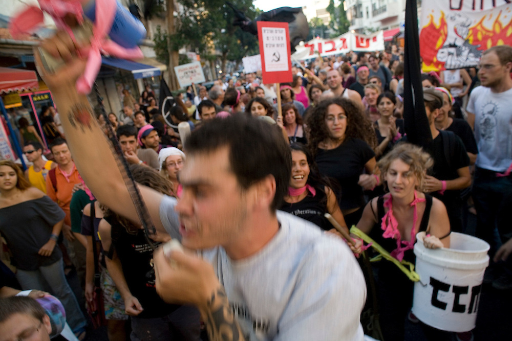 Thousands of Israelis and Palestinians took to the streets of Tel Aviv to protest against Israel's invasion of Lebanon. At points the demonstration became violent when protesters and police clashed in downtown Tel Aviv.