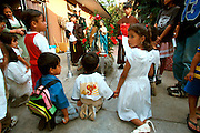 MEXICO, OAXACA, FESTIVALS a traditional Christmas Posada
