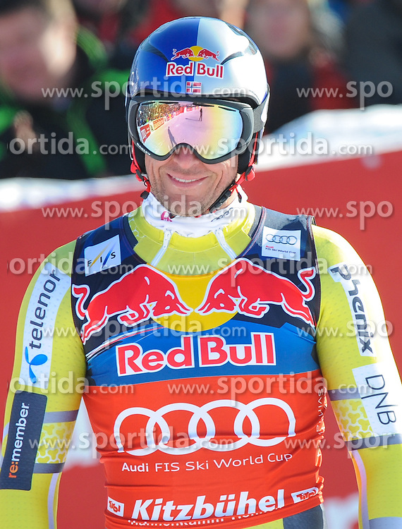 26.01.2013, Streif, Kitzbuehel, AUT, FIS Weltcup Ski Alpin, Abfahrt, Herren, im Bild Aksel Lund Svindal (NOR) // Aksel Lund Svindal of Norway reacts after mens Downhill of the FIS Ski Alpine World Cup at the Streif course, Kitzbuehel, Austria on 2013/01/26. EXPA Pictures © 2013, PhotoCredit: EXPA/ Erich Spiess