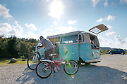 Camper and bikes