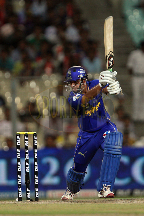 Rahul Dravid (c) during match 15 of the the Indian Premier League ( IPL) 2012  between The Kolkata Knight Riders and The Rajasthan Royals held at the Eden Gardens Stadium in Kolkata on the 13th April 2012..Photo by Jacques Rossouw/IPL/SPORTZPICS