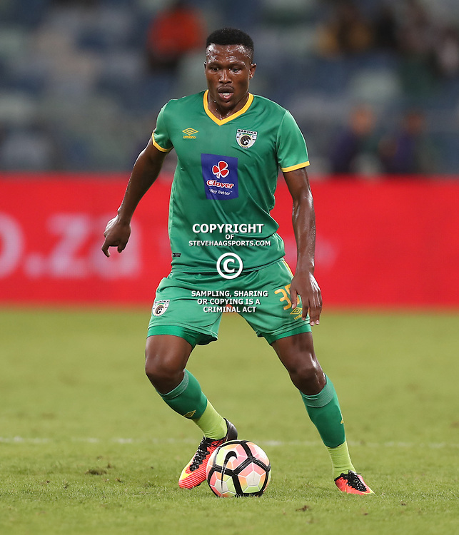 Mndeni Zikalala of Baroka FC during the 2016 Premier Soccer League match between Kaizer Chiefs and Baroka FC held at the Moses Mabhida Stadium in Durban, South Africa on the 2nd November 2016<br /> <br /> Photo by:   Steve Haag / Real Time Images