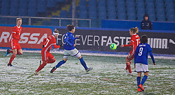 CESENA, ITALY - Tuesday, January 22, 2019: Italy's Ilaria Mauro scores the second goal during the International Friendly between Italy and Wales at the Stadio Dino Manuzzi. (Pic by David Rawcliffe/Propaganda)