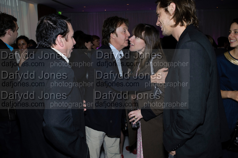JOOLS HOLLAND; SIR PAUL MCCARTNEY; CHRISTABEL HOLLAND; JAMES RUSSO, ,  Told, The Art of Story by Simon Aboud. Published by Booth-Clibborn editions. Book launch party, <br /> St Martins Lane Hotel, 45 St Martins Lane, London WC2. 8 June 2009