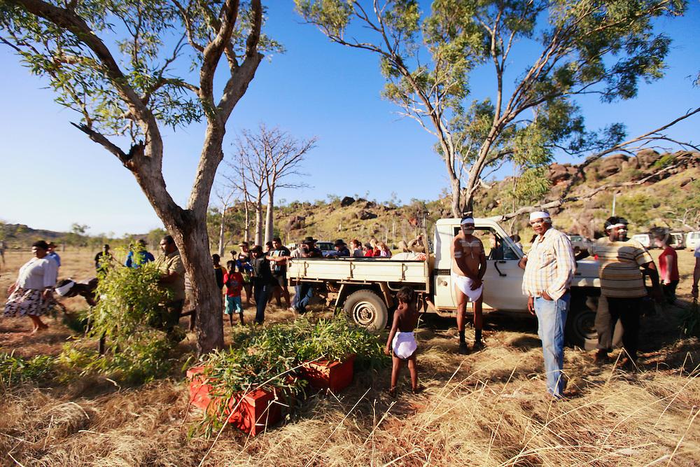 Aboriginal artefacts and remains repatriated in Tunnel Creek (Bunuba Country), Western Australia.
