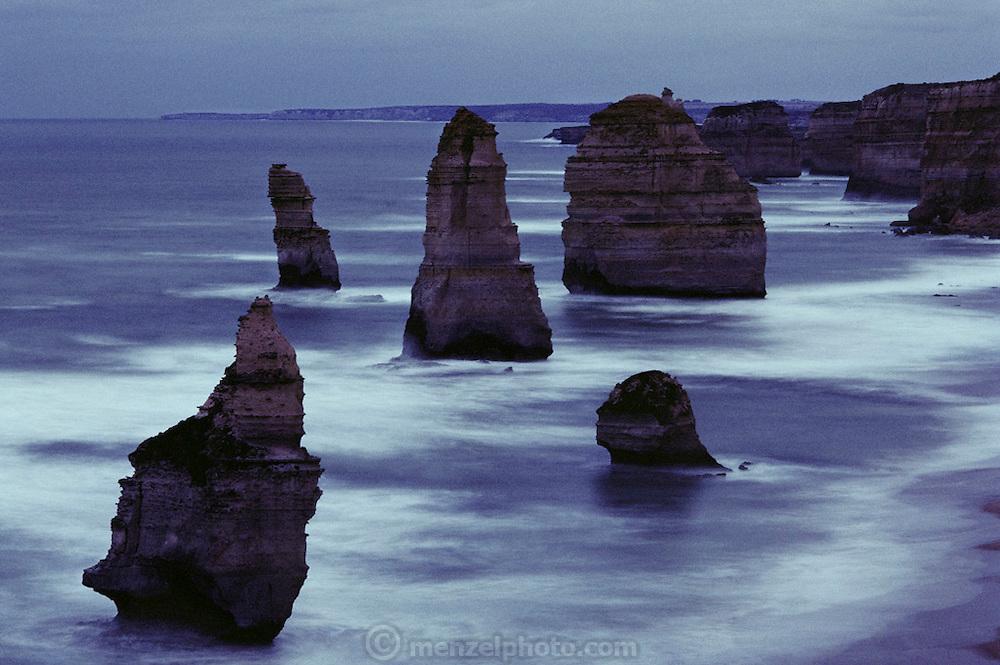 12 Apostles rock formations at Cape Otway, Victoria, Australia.