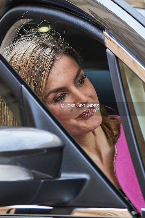 Queen Letizia of Spain leaved the Easter Mass at the Cathedral of Palma de Mallorca on March 27, 2016 in Palma de Mallorca, Spain.