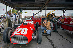 © Licensed to London News Pictures. <br /> 13/09/2019. <br /> Goodwood.West, Sussex. UK.<br /> The Goodwood Motor Circuit celebrates the 21st year of the Revival.This has become one of the biggest annual historic motorsport events in the world and the only one to be staged entirely in period dress. Each year over 150,000 people descend on this quiet corner of West Sussex to enjoy the three-day event.<br /> Pictured Photographers take images of classic Ferrari.<br /> <br /> Photo credit: Ian Whittaker/LNP