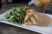 Alvin & Friends Shrimp Wrap by Rodney Bedsole, a food photographer based in Nashville and New York City.