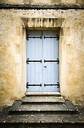 Blue door, Bayeux, Normandy, France