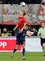 (L-R) *Jonas Svensson* of AZ Alkmaar, *Justin Kluivert* of Ajax