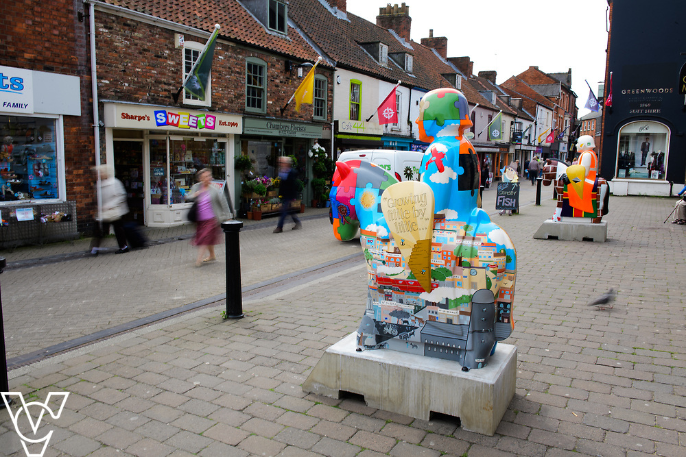 The 2017 Lincoln Knights Trail has recently gone on display around Lincoln.  The Lincolnshire Co-op's knight (The Co-operative Knight), situated in Sincil Street, was designed by Sian Bristow.<br /> <br /> Picture: Chris Vaughan Photography<br /> Date: May 22, 2017
