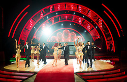 Gemma Atkinson, Alexandra Burke, Susan Calman, Davood Ghadami, Joe McFadden, Debbie McGee, Jonnie Peacock, Aljaz Skorjanec, Gorka Marquez, Kevin Clifton, Nadiya Bychkova, Katya Jones, Giovanni Pernice and Oti Mabus performing on stage during photocall before the opening night of Strictly Come Dancing Tour 2018 at Arena Birmingham in Birmingham, UK. Picture date: Thursday 18 January, 2018. Photo credit: Katja Ogrin/ EMPICS Entertainment.