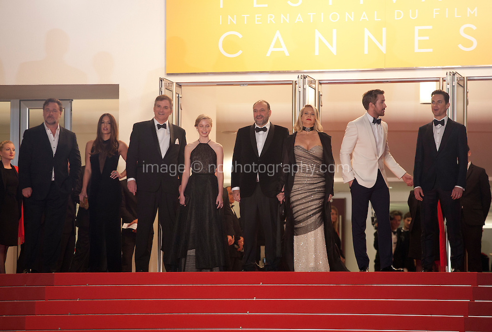 The cast at the gala screening for the film The Nice Guys at the 69th Cannes Film Festival, Sunday 15th May 2016, Cannes, France. Photography: Doreen Kennedy