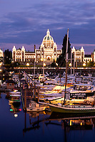Parliament Building at Night, Victoria, British Columbia